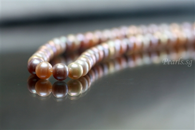 Multi-Colored 9 mm - Pearl Necklace