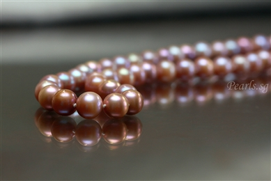 Old Rose 9 mm - Pearl Necklace