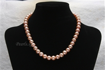 Pearl Necklace - Pink 9 mm