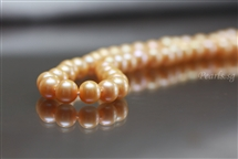Pearl Necklace - Champagne 9 mm