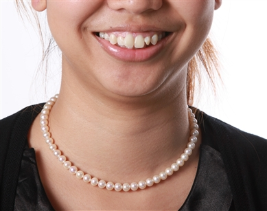 Pearl Necklace - Premium Quality White 7 mm