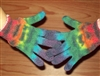 Tie Dye Gloves, Hand warmers, gardening gloves. Rainbow Gloves