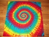 Tie Dye Tapestry 35x35, Wall Hanging, Rainbow Explosion, curtain, table cloth, sheet