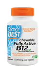 Chewable Fully Active B12, 1000mcg, 60 Tablets