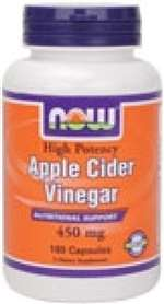 Apple Cider Vinegar 450 mg Capsules (180 ct)