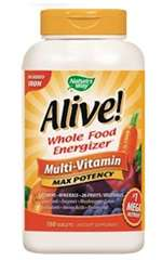 Alive! Max Potency, No Added Iron (180 tabs)