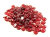 Glass Flat Marbles, Red