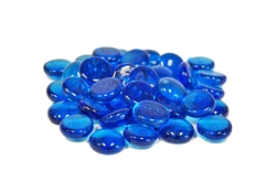 Glass Flat Marbles, Sky Blue