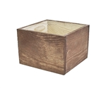 Rustic Brown Small Slim Design container