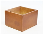 Small Slim Design container, light brown