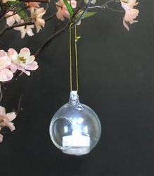 Mini Globe Style Hanging Votive Holder