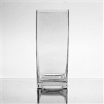 "Glass Rectangular Vase,  8"" x 2"""