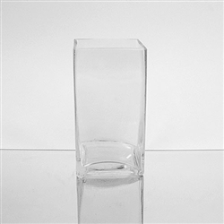 "Glass Rectangular Vase,  6"" x 3"""