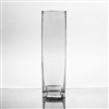 "Glass Rectangular Vase,  12"" x 3"""