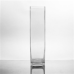 "Glass Rectangular Vase,  16"" x 4"""