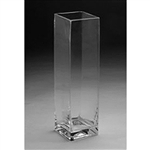 "Glass Rectangular Vase,  16"" x 5"""