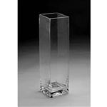"Glass Rectangular Vase,  20"" x 5"""