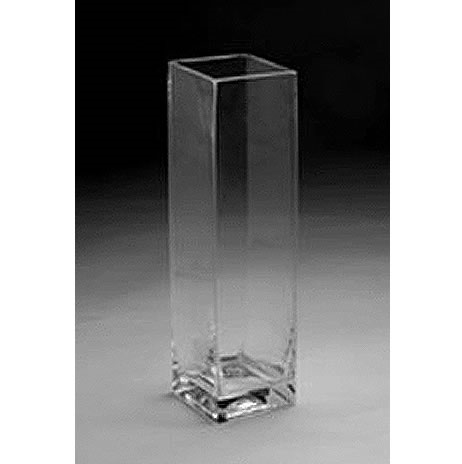 "Glass Rectangular Vase,  23"" x 5"""