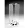 "Glass Rectangular Vase,  16"" x 6"""