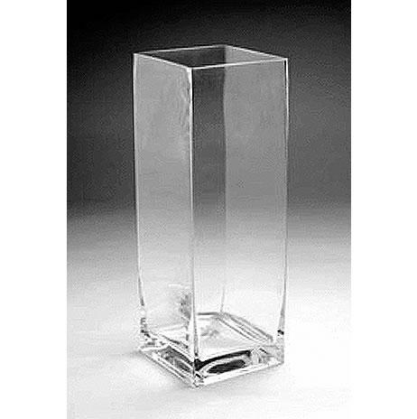 Glass Rectangular Vase 16 X 6