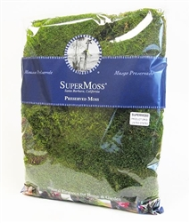 Sheet Moss, Green, 1 lb bag.
