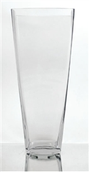 "Tapered Square Vase, 16"" x 6"""