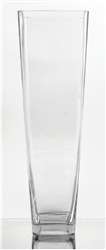 "Tapered Square Vase, 20"" x 6"""