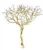 "Gold Metallic Manzanita Branches, 24"" Tall"