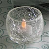 Crackle Glass Votive Candle Holder