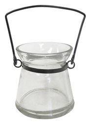 Flask Style Votive Candle Holders, Clear
