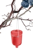 Hanging Votive Candle Holders, Red