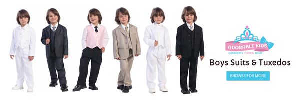 Boys Suits | Boys Wedding Attire | Ring boy Tuxedo AJAX