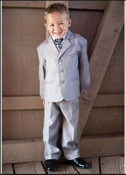 Charlie - 5pc Khaki Boys suit-