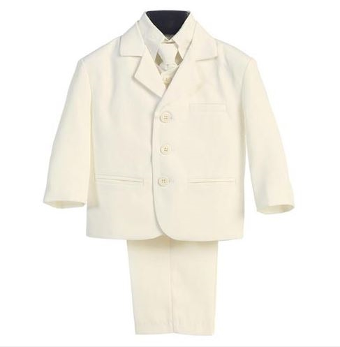 Charlie Boys 5pc Suit - IVORY