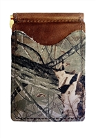 brown wallet with real tree hardwoods camo pockets