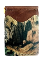 brown wallet with advantage timber camo pockets