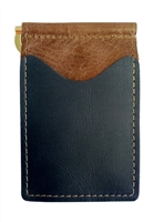 brown back saver wallet with black pockets