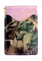 pink wallet with mossy oak camo pockets