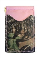 pink wallet with advantage timber camo pockets