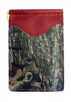 red wallet with mossy oak camo pockets