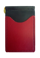 black back saver wallet with red pockets