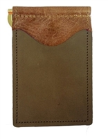 brown back saver wallet brown with olive pockets