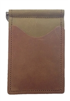 brown back saver wallet with olive brown pockets