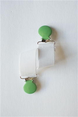 Elastic Double-Ended Clip - Green Apple