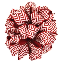 Ribbon - Chevron, Red/White
