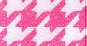 Ribbon - Houndstooth, Pink