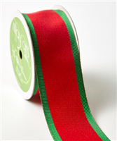 Ribbon - Red/Green Thick Stripe