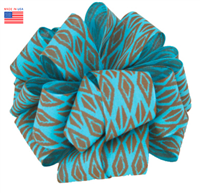 Ribbon - Turquoise/Brown Inkot