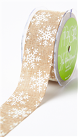 Ribbon - White Snowflake