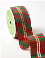 Ribbon - Red/Green/Gold Plaid